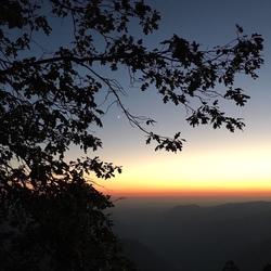 zonsondergang in Yosemite Park
