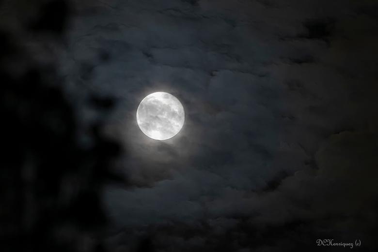 Volle maan 2 - Gisteravond aan de slag gegaan met alle tips díe  ik kreeg. Ik moet zeggen dat het niet meevalt om zowel structuur als de wolken  er om