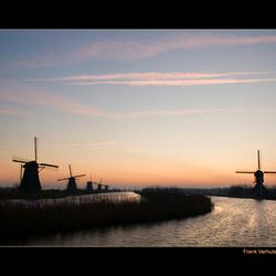 zonsopkomst Kinderdijk