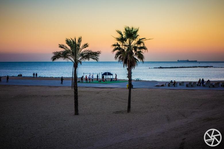 Playa de Barcelona - Het strand van Barcelona, 9 januari 2015