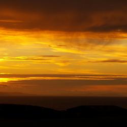 zonsondergang noord ierland