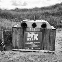 alleen glas, geen fietsen