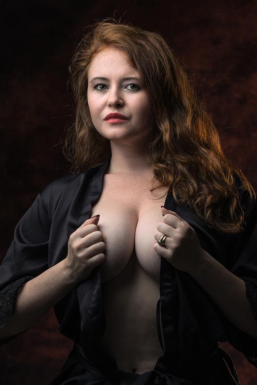 Scarlett with black jacket