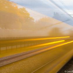 Voorbij rijdende trein