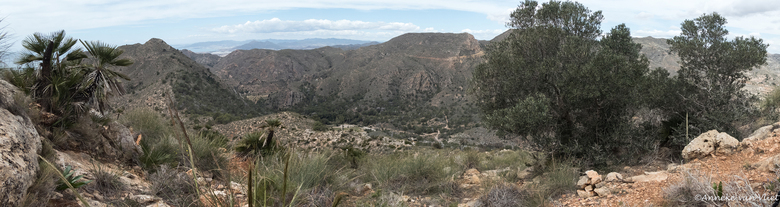 Uitzicht - Op een andere wandeling flink steil geklommen met als resultaat dit mooie uitzicht. Vlak achter ons dorp.