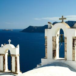Uitzicht vanaf Santorini