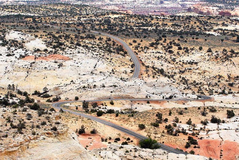 Scenic Route Highway 12 USA - Schakering van kleuren