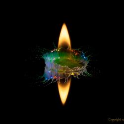 Waterdruppel Water en vuur