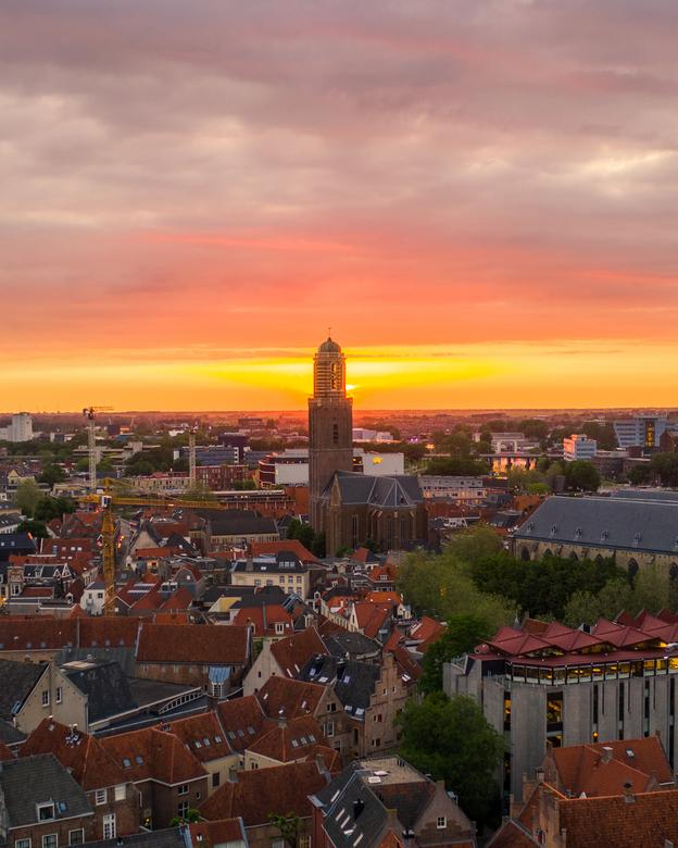 Zonsondergang Zwolle  -