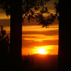 zonsondergang in Californië
