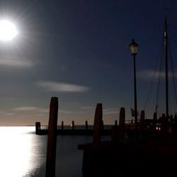 Nacht opnamen  Haven Schiermonnikoog
