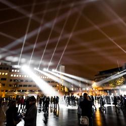 Glow lichtbanen naar de hemel