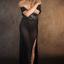 diaphanous black dress