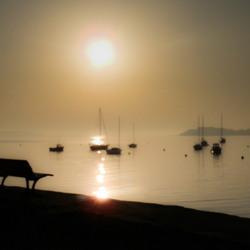 Stille ochtend in Le Fret, Bretagne