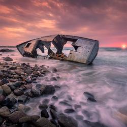 The shipwreck of Kos Island Greece