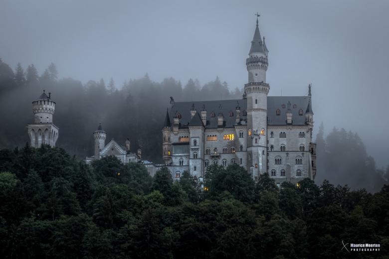 Kasteel Neuschwanstein - Slot Neuschwanstein om 5 uur 's morgens in de stromende regen..... We kwamen hier langs op weg naar ons vakantie adres e