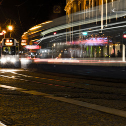 Tram full speed