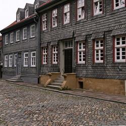 Straat in Goslar.