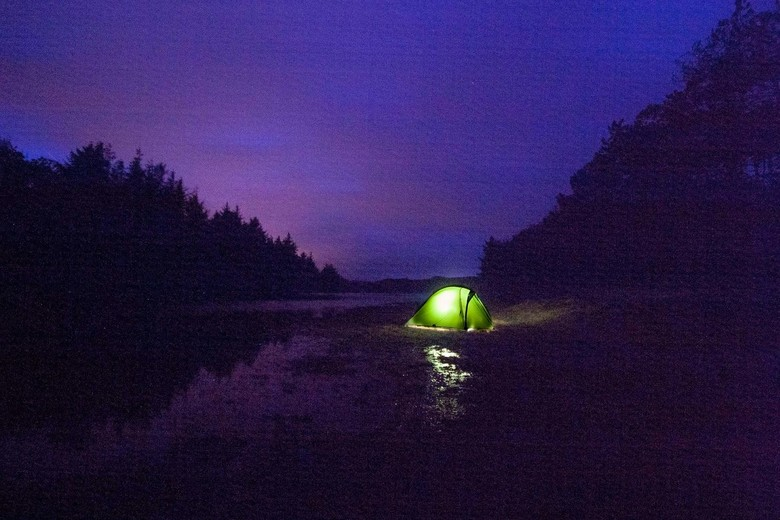 Camping wild -