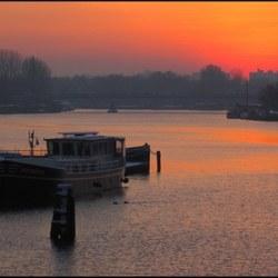 Zonsondergang Amstel Amsterdam