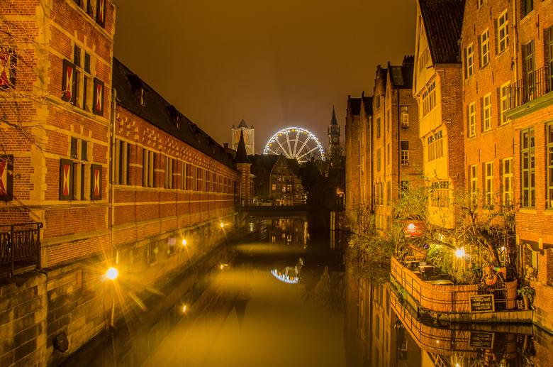 Gent bij nacht - Gent bij nacht.