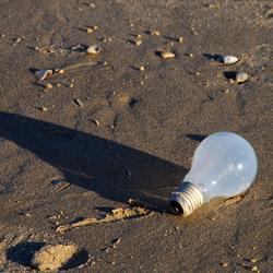 Licht op het strand...