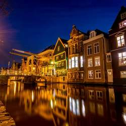 Oude stad reflectie