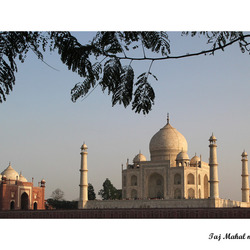 Taj Mahal vanaf de overkant