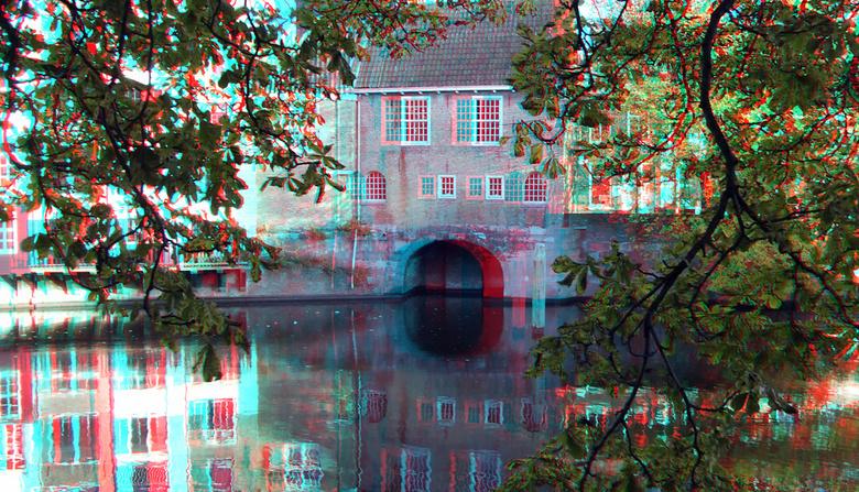 Delfshaven Rotterdam in anaglyph - Delfshaven Rotterdam in anaglyph<br /> 3D stereo anaglyph red/cyan