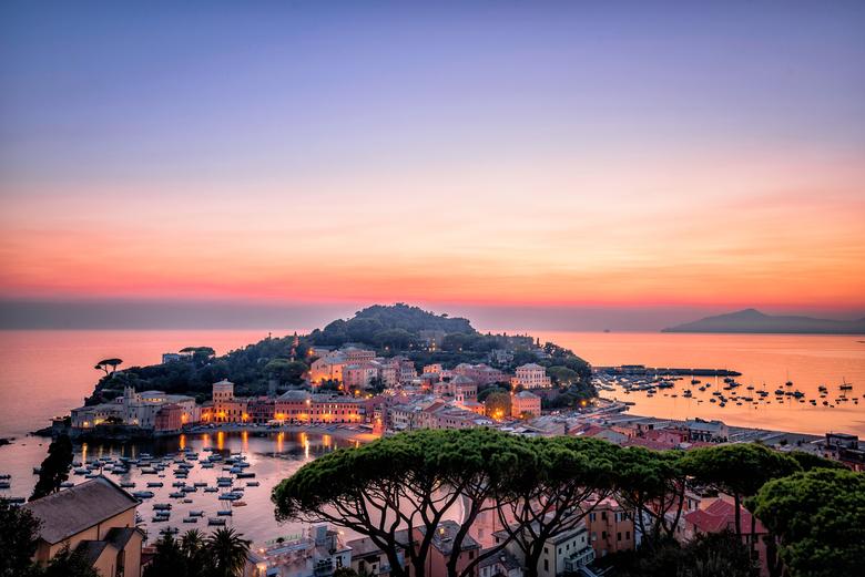 Zonsondergang in Sestri Levante -