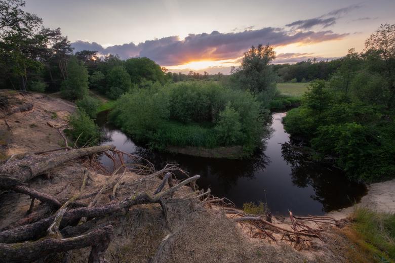 Dinkel - Een van Nederlands mooiste riviertjes tijdens zonsondergang