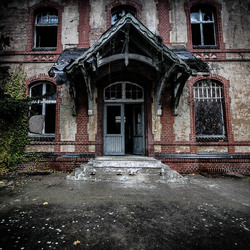 abandoned psychiatric hospital.