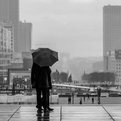 Regen in Parijs