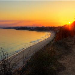 Zonsondergang aan de Algarve