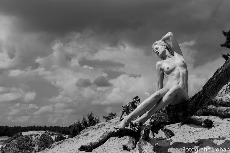 Aphrodite Goddes - Fine art nude met Anna die doet denken aan beelden uit de oudheid van Aphrodite