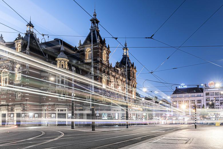 Trams in beeld - Gisteravond Amsterdam ingedoken om te gaan fotograferen. Foto is gemaakt van de Stadsschouwburg op het Leidseplein.<br /> <br /> Gr