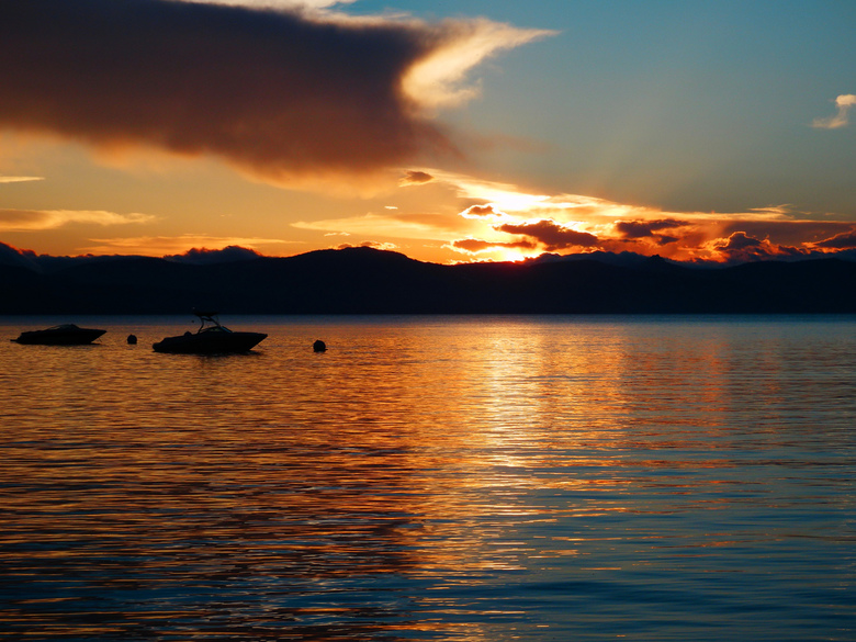 Sunset Lake Tahoe - Zonsondergang Lake Tahoe in Amerika