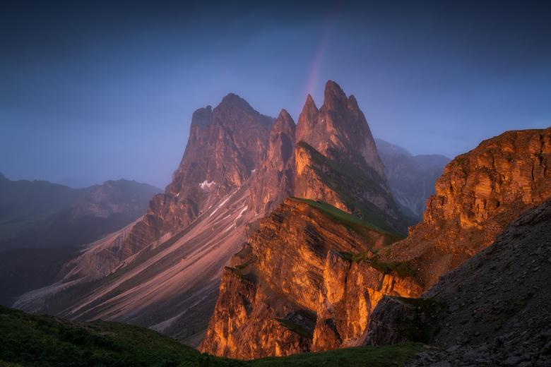 A pot of pure gold - Een van de mooiste plekken in de Dolomieten met een prachtig uitzicht. Een welverdiende en toch verrassend moment nadat ik de moe