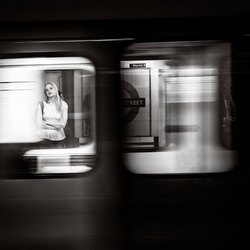Girl at Liverpool Street Station