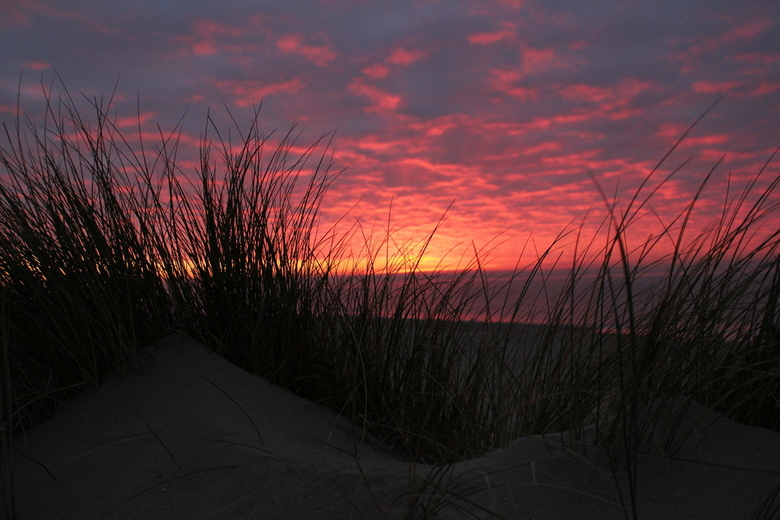Zonsondergang Texel  - Zonsondergang op het strand van Texel. Na een mistige dag toch nog kunnen genieten van een prachtige zonsondergang, een cadeaut