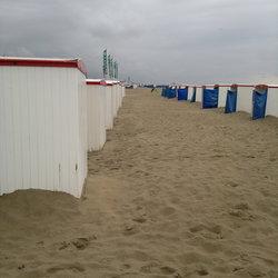Strandhuisjes in perspectief