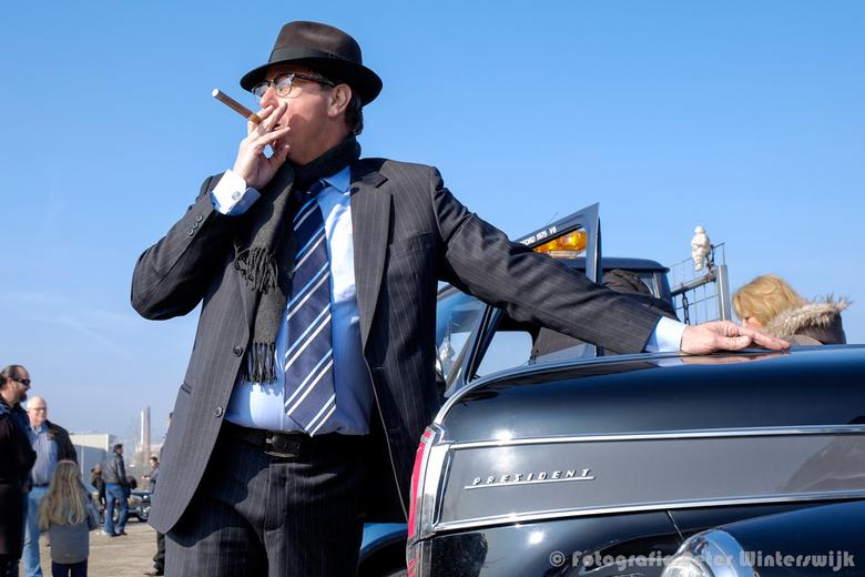 Meet El Presidente - Foto gemaakt tijdens de protestbijeenkomst tegen de omstreden -en nutteloze- milieuzone in Rotterdam.