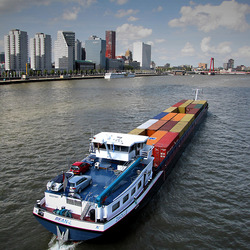 Scheepvaart in Rotterdam