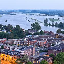 8 juni 2013, hoog water in Zutphen