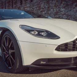Aston Martin at sunset