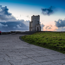 Monument on Cliffs of Moher