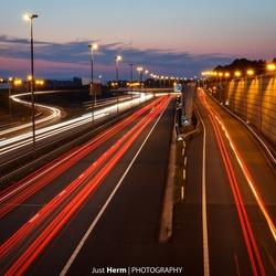 Lijnen op de snelweg