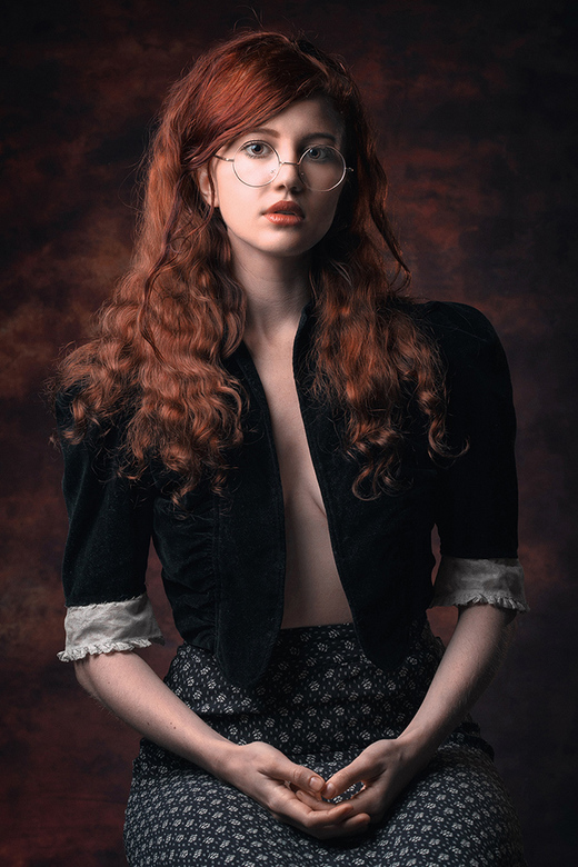 classical vintage portrait