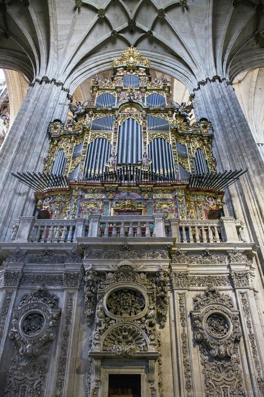 Spanje 114 - Orgel in de kathedraal van Salamanca.