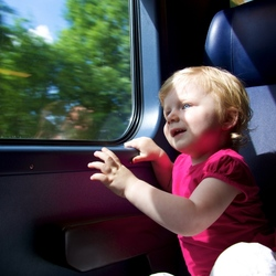 Julia in de trein